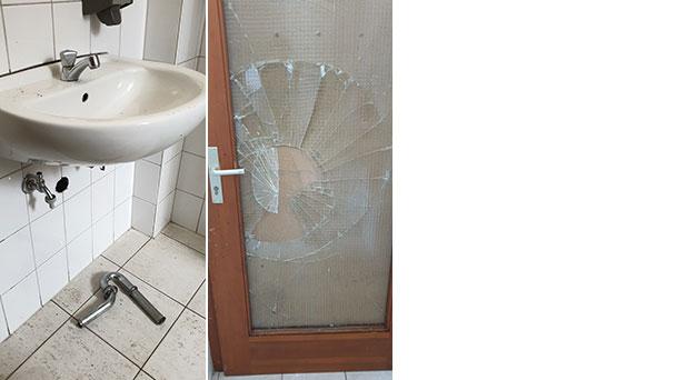 Verwüstungen auf Rastatter Stadtfriedhof – Unbekannte beschädigten Toilettenanlage