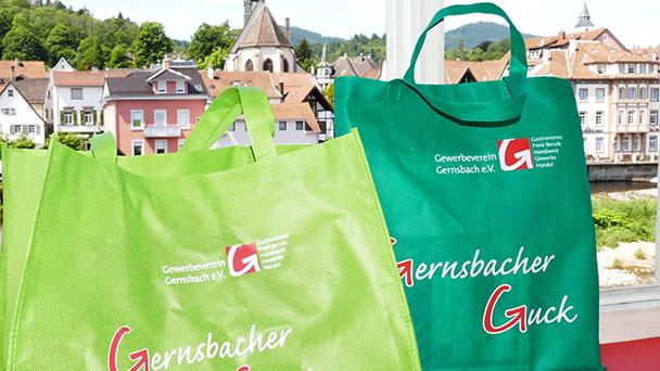 """Kreativ für die Umwelt – """"Gernsbacher Guck"""" als Pfandtasche – Verkaufsoffener Sonntag"""