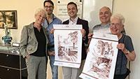 Dmitrij Averjanov übergibt Zeichnungen zum 800. Gernsbacher Stadtjubiläum – Zu Gast bei Turgenev-Gesellschaft Baden-Baden