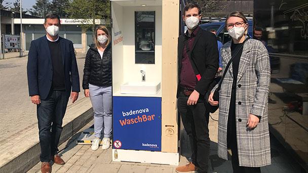 """Badenova präsentiert """"mobiles Waschbecken"""" – Hygiene in Corona-Zeiten macht Energie- und Wasserversorger kreativ"""