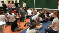 Schüler sollen zu Lebensrettern werden – Übung für den Ernstfall