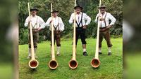 Gernsbacher Alphornbläsern musizieren – Konzert am Sonntag im Kurpark