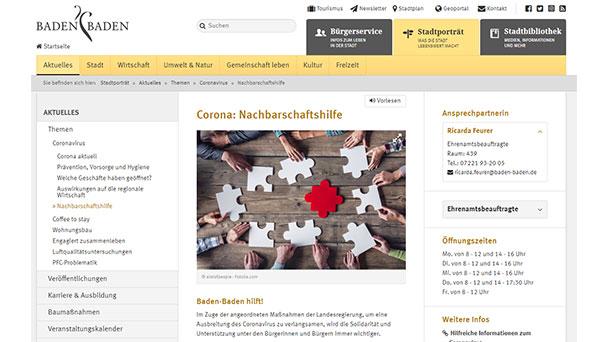 """Baden-Badener OB Mergen voll des Lobes – """"Hilfsbereitschaft überwältigend"""" – Corona-Aktion """"Baden-Baden hilft!"""""""