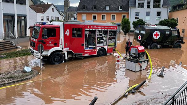 Auch Hilfstrupps aus Karlsruhe mindestens zwei Tage im Hochwassereinsatz