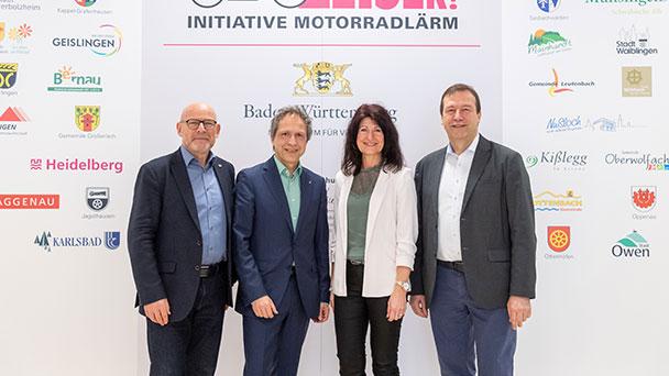 Auch Baden-Badener Bürgermeister Roland Kaiser fordert leisere Motorräder – Gemeinsam mit Minister Herrmann vor der Landespressekonferenz