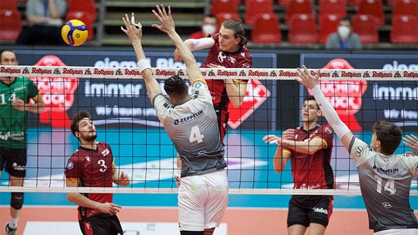 Geplatzte Traum der Bühler Volleyball Bundesligisten – Tapfer kämpfende Bisons unterliegen Friedrichshafen