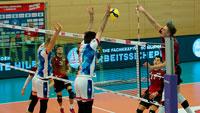 Bühler Volleyball-Bundesligisten verlieren in Frankfurt –  Pokalträume der Bisons zerstört