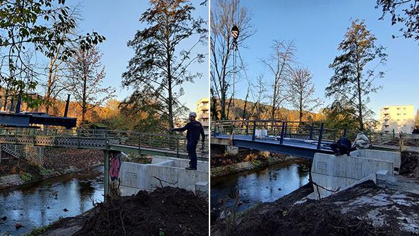 """Neue Brücke am Aumattstadion – """"Von einem modernen und doch schlichten Design geprägt"""""""