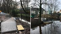 Lieferung der Brückenüberbauten am Montag – Fußgängerbrücken über Gewerbekanal und beim Freibad saniert