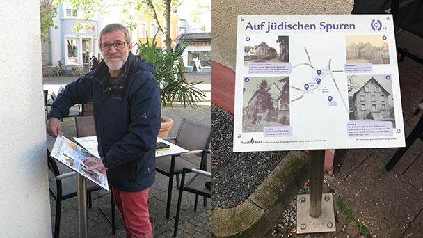 """Bühler Bürger finanziert Erinnerungstafel """"Auf jüdischen Spuren"""" – Installation am Johannesplatz"""