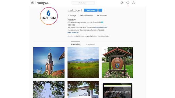 Stadt Bühl hofft auf Instagram – Events in und um die Zwetschgenstadt Bühl