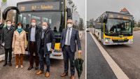OB Mergen durfte Bus fahren – Schwarzwald-Linie eingeweiht
