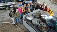 Harte Arbeit der Baden-Badener CDU am Samstagmorgen – 91 Glascontainer-Stationen im Stadtkreis gereinigt