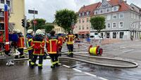 Chlorgas in Rastatt ausgetreten – Stadt sperrt Fontänenfeld –  Ein Verletzter