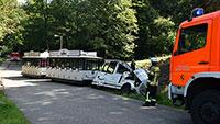 Baden-Badener City-Bahn verunglückt – Fahrer schwer verletzt