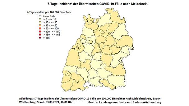 Inzidenz in Baden-Baden immer noch bei 25,4 – Landkreis Rastatt 14,7 – Landkreis Karlsruhe unter 10