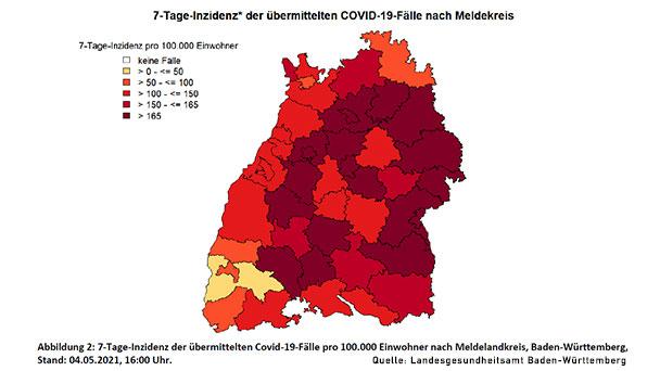 7-Tage-Inzidenz in Baden-Baden steigt wieder leicht auf 123,2 – Landkreis Rastatt 144,3 – Landkreis Breisgau-Hochschwarzwald jetzt bei nur noch 40,2