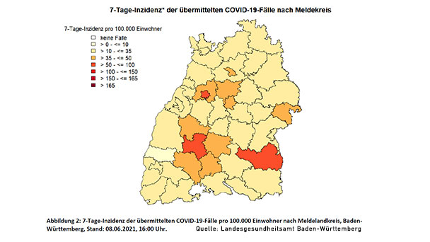 Launisches Baden-Baden – Inzidenz nur noch 14,5 – Auch in den Landkreisen Rastatt, Karlsruhe und Ortenau entspannt sich die Lage immer mehr