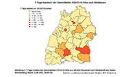 Stadt Rastatt tanzt aus der Reihe – Heute 84,1 – Baden-Baden seit drei Tagen mit gleichem Wert – Stadt Karlsruhe sinkt auf 8,7