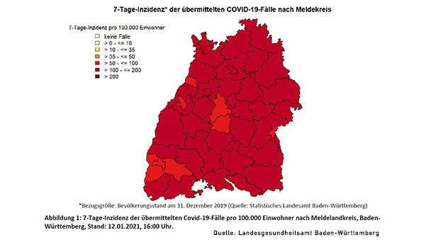 Baden-Baden mit niedrigstem Wert in Baden-Württemberg – Auch Stadtkreis Karlsruhe unter 100 bei 7-Tage-Inzidenz – Landkreis Rastatt 132,7