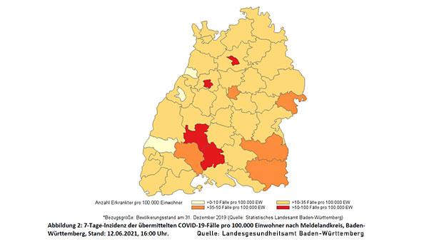 Landesgesundheitsamt meldet für Baden-Baden niedrigsten Wert in Baden-Württemberg – Stadt Karlsruhe mit 7,7 auf zweitem Platz – Landkreis Rastatt 28,1