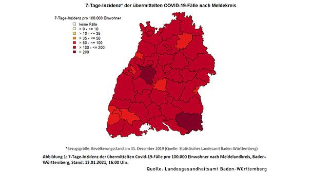 Baden-Baden mit 7-Tage-Inzidenz 88,8 leicht verschlechtert – Landkreis Rastatt 124,4 – Stadt Karlsruhe mit bestem Landeswert
