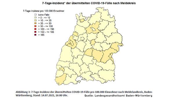 Vierte Corona-Welle baut sich auf – Inzidenz in Baden-Baden nun bei 12,7 – Auch Landkreis Rastatt über 10 Neuinfektionen in 7 Tagen – Stadt Karlsruhe steigt auf über 20