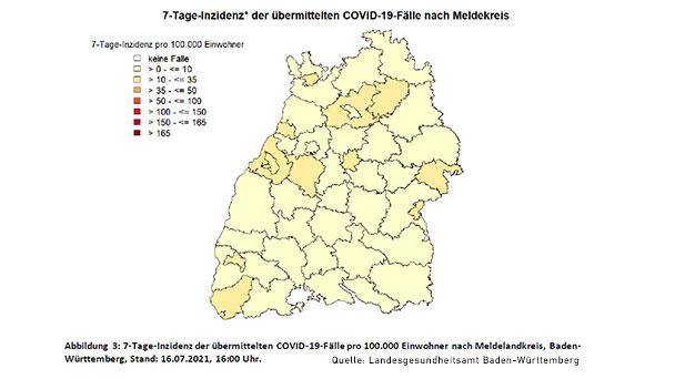 Inzidenz in Baden-Baden verharrt bei 10,9 – Landkreis Rastatt und Stadt Karlsruhe legen zu – Baden-Württemberg steigt auf 8,9
