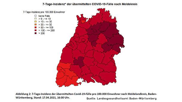 """7-Tage-Inzidenz in Baden-Baden heute 125,0 – Landkreis Rastatt knapp unter 200 – Die 11 Regeln der """"Bundesnotbremse"""" für Baden-Württemberg hier"""