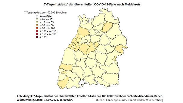 Inzidenz in Baden-Baden steigt auf 12,7 – Landkreis Rastatt sinkt leicht auf 11,7 – Anteil Delta-Variante steigt auf über 60 Prozent