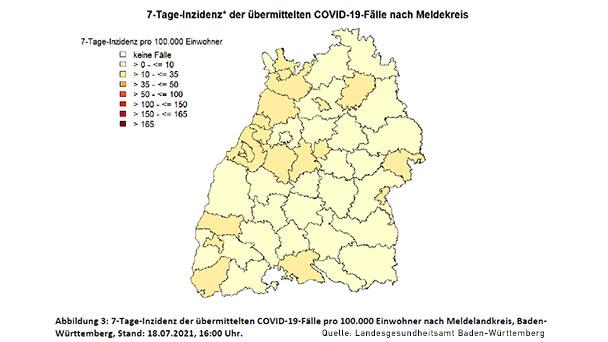 Landkreis Rastatt zum fünften Mal in Folge über Inzidenz 10 – Baden-Baden bleibt bei 12,7 – Anteil Delta-Variante 66 Prozent