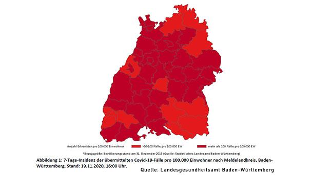 Baden-Baden wieder Hochrisikogebiet mit 7-Tage-Inzidenz 106,9 – Landkreis Rastatt steigt auf 99,0