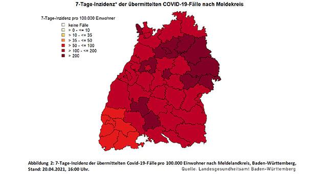 Auch Baden-Baden droht Schulschließung – Starker Anstieg auf 7-Tage-Inzidenz 170,3 – Landkreis Rastatt 197,0