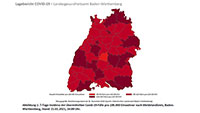 Infektionszahlen fallen weiter – Baden-Baden und Landkreis Rastatt deutlich unter Baden-Württemberg-Schnitt