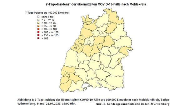 Inzidenz in Baden-Württemberg steigt auf 10,4 – Baden-Baden bleibt bei 16,3 – Landkreis Rastatt steigt leicht