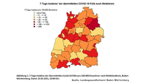 Baden-Württemberg steigt auf 7-Tage-Inzidenz 44,8 – Baden-Baden steigt auf 30,8 – Landkreis Rastatt fällt leicht auf 52,7