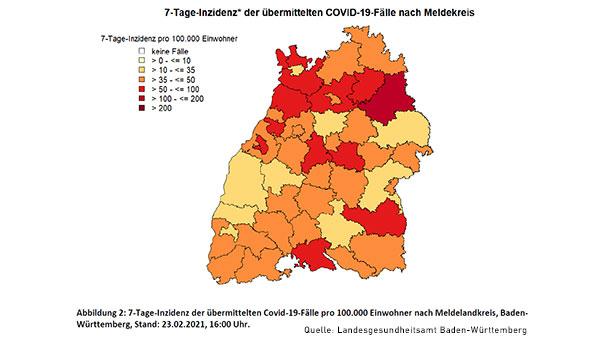 Starker Anstieg in Baden-Baden – 7-Tage-Inzidenz wieder über 50 – Landkreis Rastatt 48,4 – Baden-Württemberg 45,5