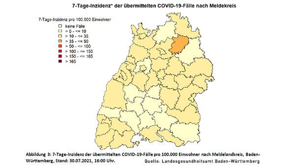 7-Tage-Inzidenz in Baden-Baden erholt sich leicht – LGA meldet 23,6 – Landkreis Rastatt 10,4 – Stadt Karlsruhe 11,2