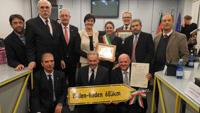 Baden-Badener Delegation feierte in Moncalieri 25 Jahre Freundschaft - Lutz Benicke hielt seine Rede auf Italienisch - Gerhard Nonnenmann Ehrenbürger von Moncalieri