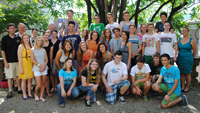 OB begrüßt Schüler aus Iowa