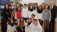 OB empfängt MLG-Gastschüler aus Spanien