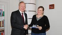 Baldreit-Stipendiatin Tina Beifuss verabschiedet