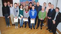 Teilnehmer der Deutsch-Russische Mathe-Olympiade im Rathaus