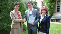 OB Mergen gratuliert Gerhard Ell zur Ehrenbürgerschaft in Jalta