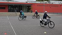 E-Bike-Fahren muss gelernt sein – Training in Steinbach gestartet
