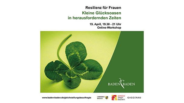 """Glücksoasen aus dem Baden-Badener Rathaus – """"Resilienz für Frauen"""""""