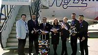 Neue Fluggesellschaft Air Serbia vom Flughafen Karlsruhe/Baden-Baden gestartet – Auch Wizz Air Erstflug am letzten Wochenende