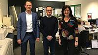 OB Mergen besucht Firmen in Baden-Baden – Späth Media mit Schwerpunkt Digitaldruck