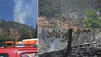 Waldbrand in Balg – Löscharbeiten in unwegsamen Geländen
