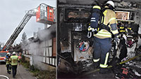 Feuer in Keller in Oberbeuern – Hausbewohner evakuiert